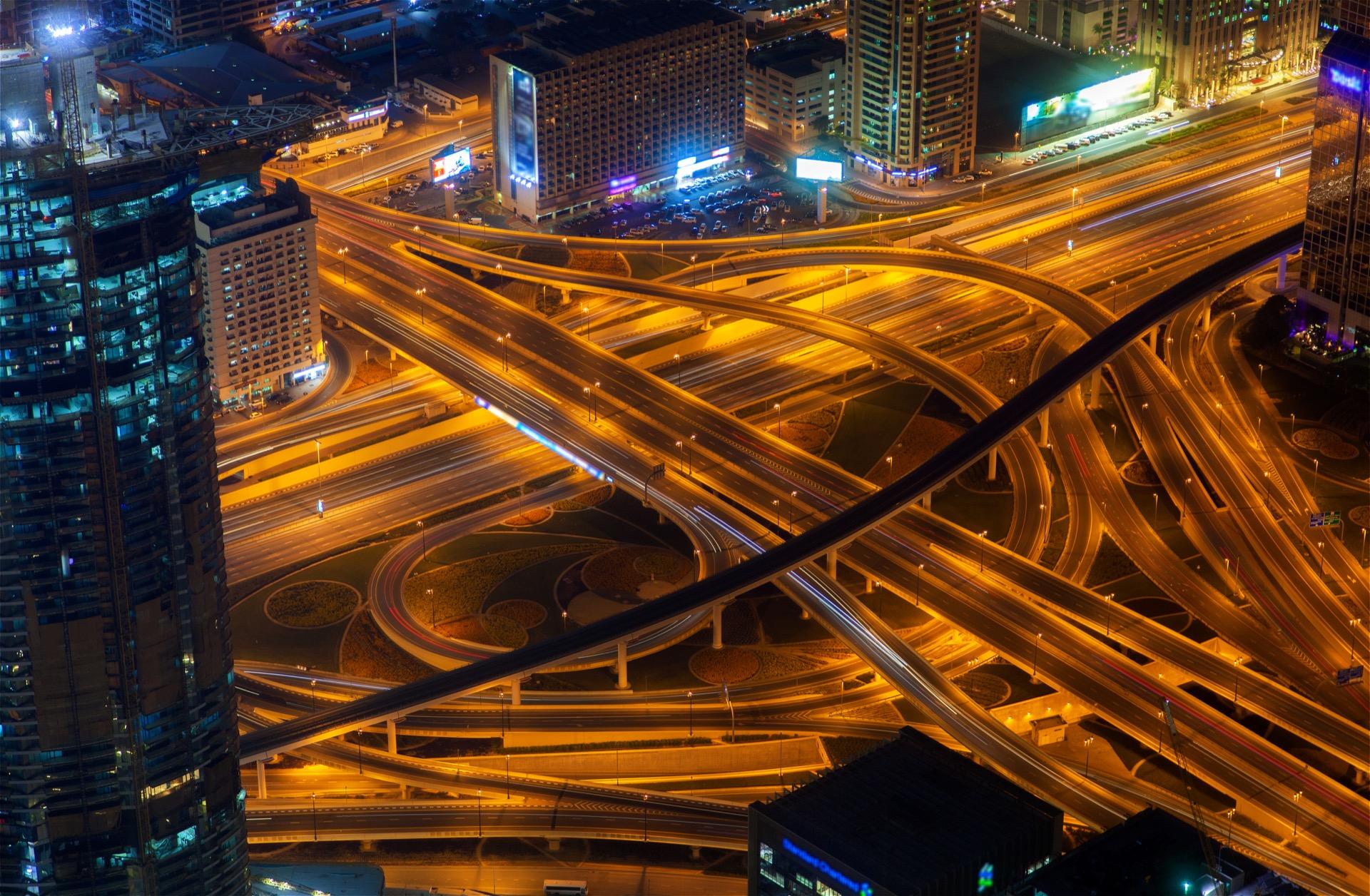 Trafic urbain de nuit
